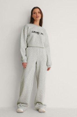 NA-KD NA-KD Organisch Sweatpants Met Tailleband - Grey