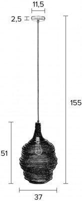 ZILT ZILT Hanglamp 'Povl' Medium kleur zwart