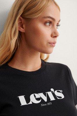 Levis Levi's T-Shirt Met Logo - Black