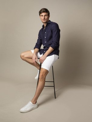 Cavallaro Napoli Cavallaro Napoli Heren Overhemd - Leo Overhemd - Donkerblauw