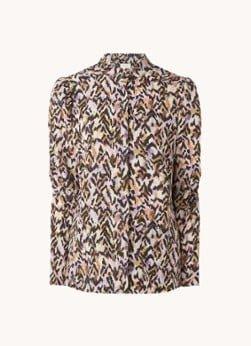 Dante 6 Dante 6 Rayur blouse van crêpe met print en pofmouw