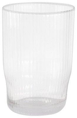 HEMA HEMA Longdrinkglas Bergen Streep Reliëf 450ml