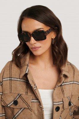 NA-KD Accessories NA-KD Accessories Big Retro Square Sunglasses - Brown