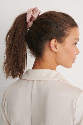 NA-KD Accessories NA-KD Accessories Dubbelpack Glanzende Satijnen Scrunchies - Pink