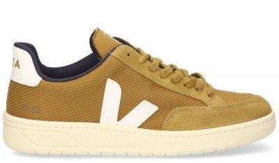 VEJA VEJA V-12 B-Mesh Bruin/Wit Herensneakers