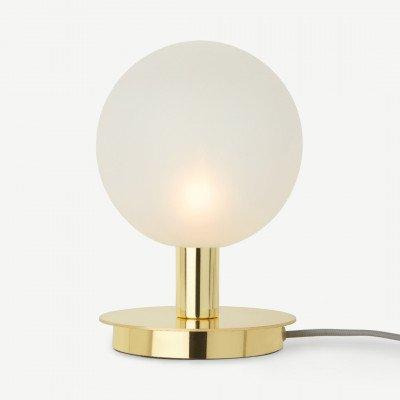 MADE.COM Boll tafellamp, messing en matglas