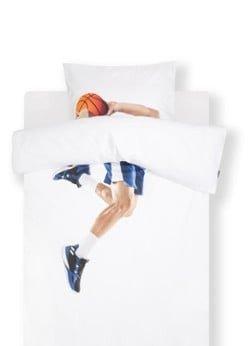Snurk Snurk Basketball Star kinderdekbedovertrekset van biologisch katoen perkal 160TC - inclusief kussensloop