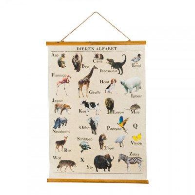 Xenos Vintage poster dieren alfabet - 50 x 70 cm