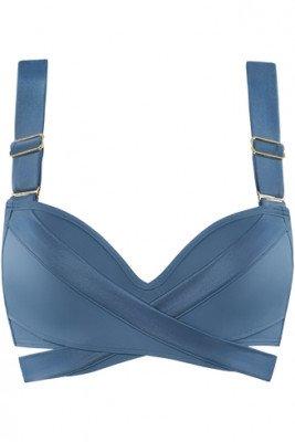 Marlies Dekkers cache coeur push up bikini top   wired padded air force blue - 70F