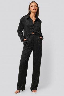 NA-KD Classic Rechte Pantalon - Black