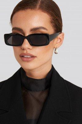 NA-KD Accessories NA-KD Accessories Brede Zonnebril Met Retro-Look - Black