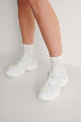 NA-KD Shoes NA-KD Shoes Slim Sneakers Met Klittenband - White