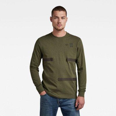 G-Star RAW Tape Detail T-Shirt - Groen - Heren