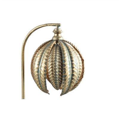 Firawonen.nl PTMD Mellis Gold ijzeren tafellamp bladeren rond
