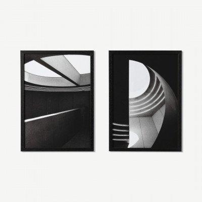 MADE.COM MEP Studio L'Au-dela, set van 2 ingelijste prints, door Clothilde Matta, A3