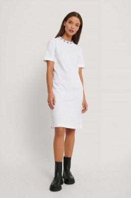 Calvin Klein Calvin Klein Mini-Jurk Met Logo - White