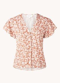 ARMEDANGELS ARMEDANGELS Aanvi blouse met bloemenprint en V-hals