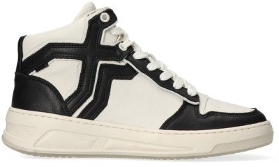 Bronx Witte Bronx Hoge Sneaker Old-cosmo 47325
