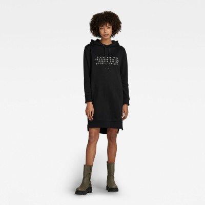 G-Star RAW Graphic BF Hoodie Sweaterjurk - Zwart - Dames