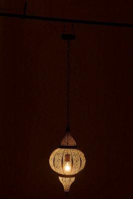 J-Line J-Line Hanglamp 'Octaaf' Oosters, Small, kleur Oud Goud, Ø32cm