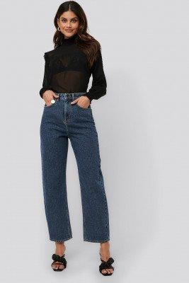 NA-KD Trend NA-KD Trend High Waist Oversized Jeans - Blue