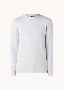 Profuomo Profuomo Sweater met gemêleerd dessin