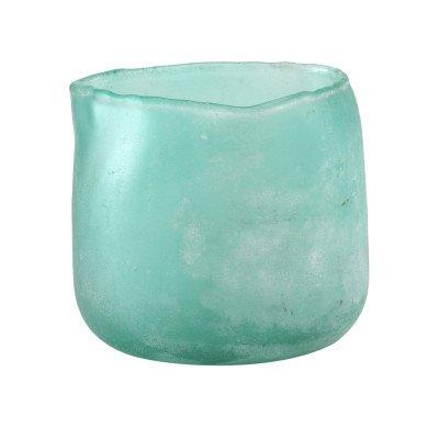 Firawonen.nl Raze turquoise frosted glass pot round m