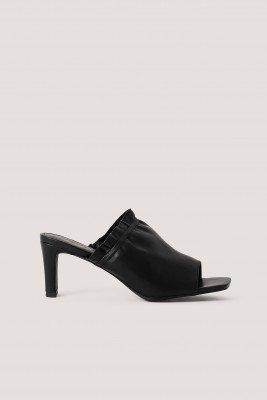 NA-KD Shoes Elastic Mules - Black