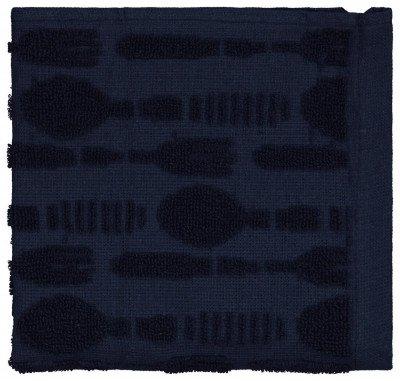 HEMA HEMA Keukendoek Bestek 50x50 Katoen Donkerblauw