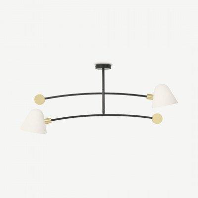 MADE.COM Calico hanglamp, zwart en messing