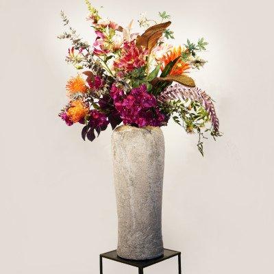 Firawonen.nl Kunstboeket Flower Bomb incl. vaas
