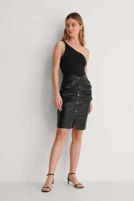 Curated Styles Curated Styles Pu Rok - Black