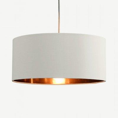 MADE.COM Oro hanglampenkap, witte klei en koper