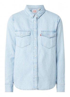 Levi's Levi's Essential Western blouse van denim met borstzakken