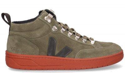VEJA VEJA Roraima Suede Groen/Zwart Damessneakers