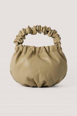 Mango MANGO Leren Bucket Bag - Green