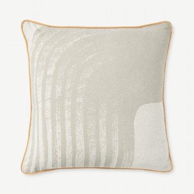 MADE.COM Maali Linen Blend Cushion 55 x 55cm, Natural
