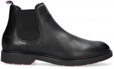 Tommy Hilfiger Zwarte Tommy Hilfiger Chelsea Boots Elevated Rounded