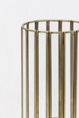 Light en Living Light & Living Tafellamp 'Strøby' antiek brons+glas