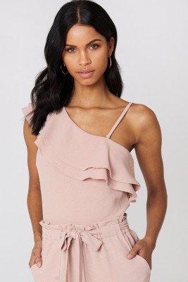 Rut&Circle Rut&Circle Ofelia One Shoulder Top - Pink