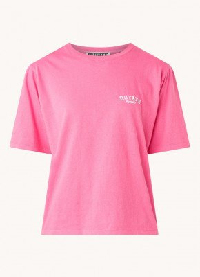 ROTATE ROTATE T-shirt van biologisch katoen met logoborduring