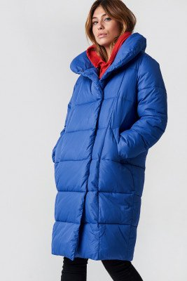 NA-KD NA-KD Padded Shawl Collar Jacket - Blue
