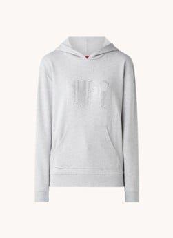 Hugo Boss HUGO BOSS Dasara hoodie met glitter logoprint