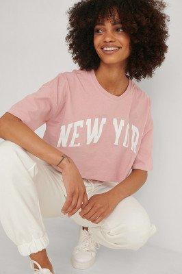 Trendyol Trendyol Gedrukt T-shirt - Pink
