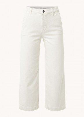 Marc O'Polo Marc O'Polo High waist wide fit cropped jeans van biologisch katoen