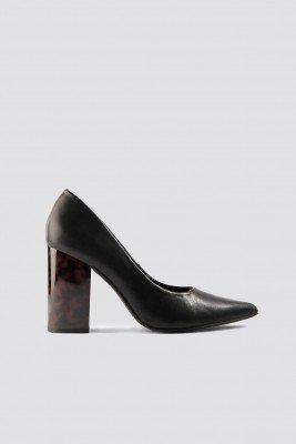 NA-KD Shoes Tortoise Heel Pumps - Black