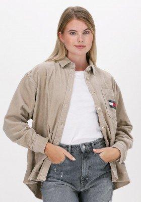 Tommy Jeans Beige Tommy Jeans Blouse Tjw Oversized Corduroy Shirt