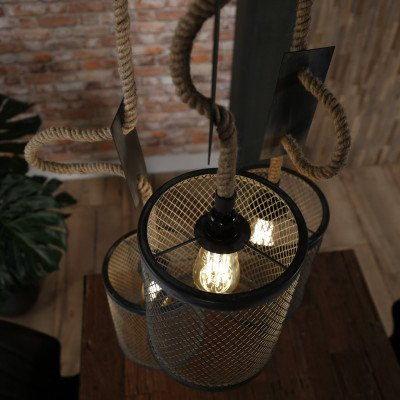 LifestyleFurn Industriële Hanglamp 'Judi' 3-lamps, Ø20cm