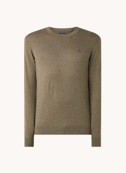 Gant Gant Fijngebreide pullover in kasjmierblend