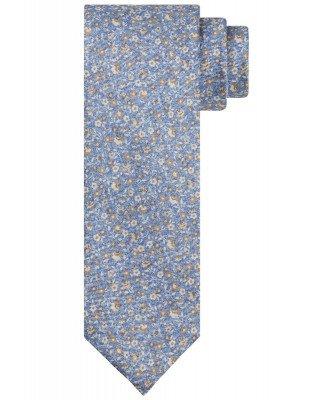 Profuomo Profuomo heren blauwe zijden bloemenprint stropdas